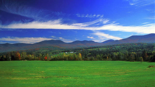 New Hampshire Poster featuring the photograph White Mountains From Route 2 by John Burk