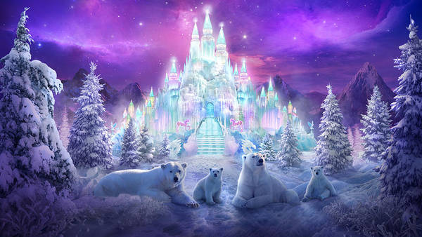 Polar Bears Poster featuring the painting Winter Wonderland by Philip Straub