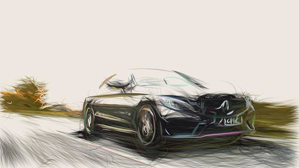 Mercedes C43 Amg Coupe >> Mercedes Benz C43 Amg Coupe Drawing Poster