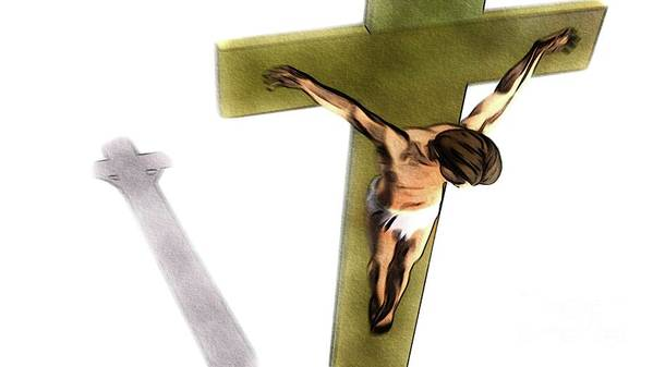Jesus Poster featuring the painting Shadow Of The Cross by Pierre Blanchard