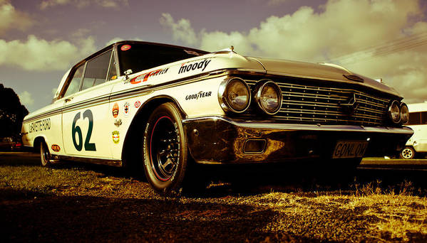Historic Nascar Poster featuring the photograph 1962 Ford Galaxie 500 by Phil 'motography' Clark