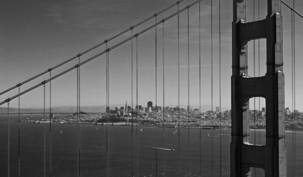 San Francisco Poster featuring the photograph San Francisco Through Golden Gate Bridge by Twenty Two North Photography