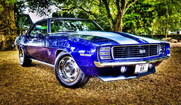 Muscle Car Poster featuring the photograph 69 Chevrolet Camaro - Hdr by motography aka Phil Clark