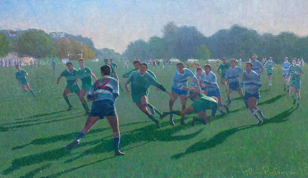 Sports Poster featuring the painting Auckland Rugby by Terry Perham