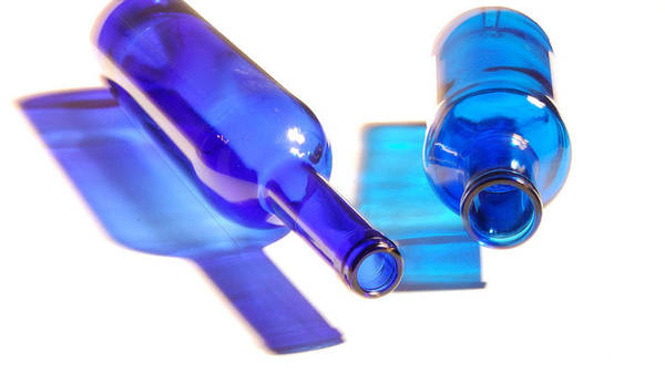 Bottles Poster featuring the photograph Blue Bottles by Gina Dsgn