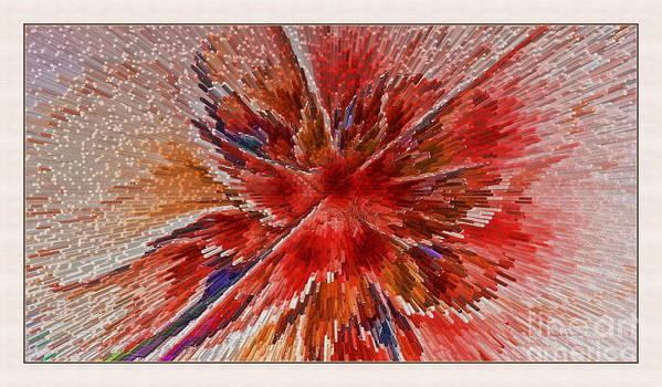 Fractal Poster featuring the digital art Burning Passion Of Love by Deborah Benoit