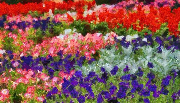 Floral Fantasy Poster featuring the painting Floral Fantasy by Dan Sproul