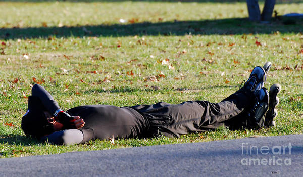 Roller Blade Poster featuring the photograph Rollerblader At Rest by Francine Hall