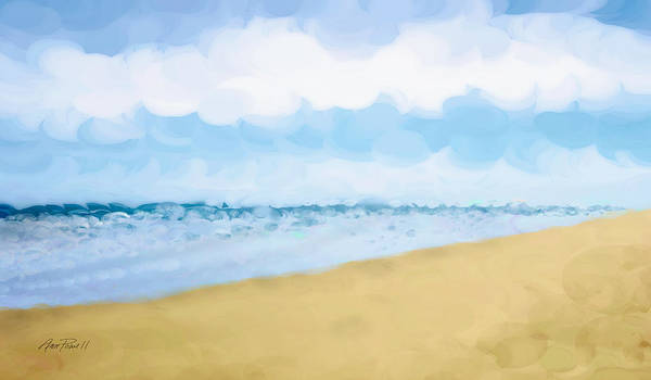 Beach Poster featuring the painting The Beach Abstract Art by Ann Powell