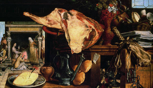 Raw Meat Poster featuring the painting Vanitas Still Life by Pieter Aertsen