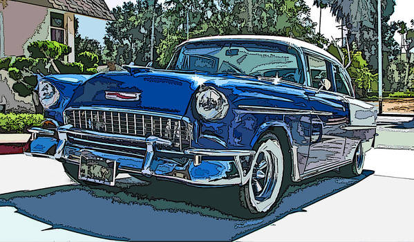 1955 Poster featuring the photograph 1955 Chevy Bel Air by Samuel Sheats