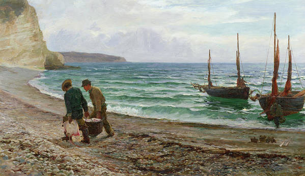 Fishing Poster featuring the painting A Sea View by Colin Hunter