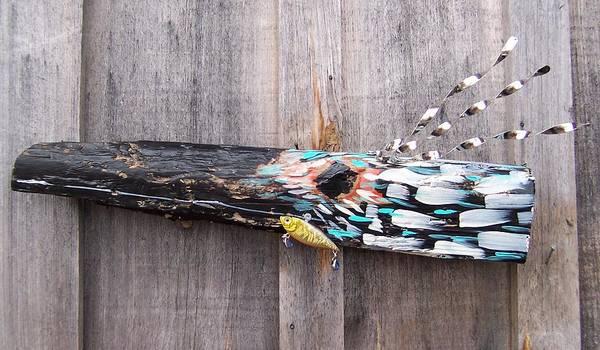 Bird Poster featuring the sculpture Bird Of Prey by Krista Ouellette