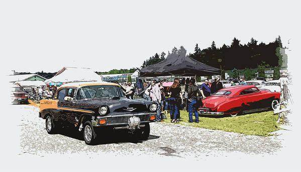 Hot Rod Poster featuring the photograph Car Show Gasser by Steve McKinzie