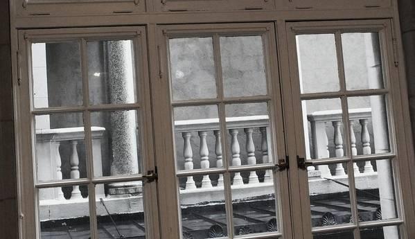 Columns Poster featuring the photograph Neighbors Baluster by Anna Villarreal Garbis