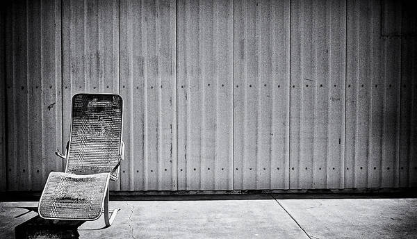 Lounge Chair Poster featuring the photograph Retired by Ron Regalado