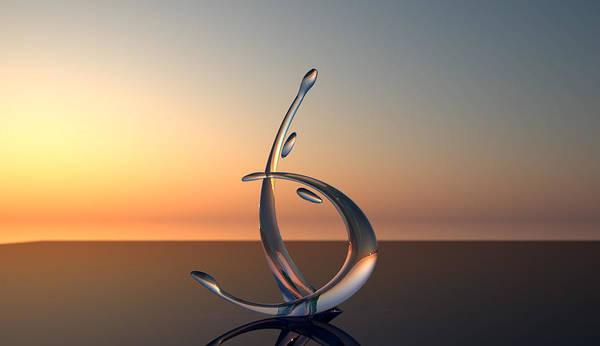 Glass Sculpture Poster featuring the sculpture Serenade by Raffi Zaroukian