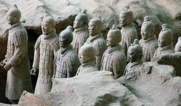 Terracotta Army Poster featuring the photograph Terracotta Army Xi'an by Jessica Estrada