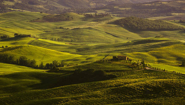 Farm Poster featuring the photograph Tuscan Hills by Andrew Soundarajan
