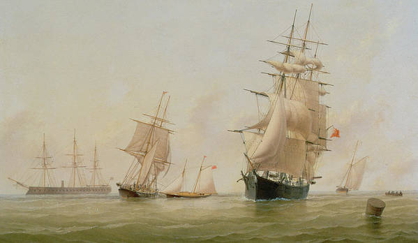 Boat Poster featuring the painting Ship Painting by WF Settle
