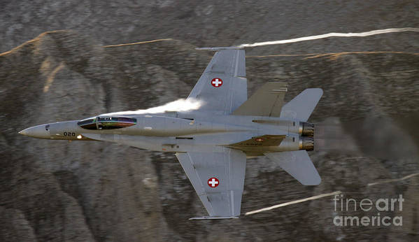 Axalp Poster featuring the photograph Supersonic by Angel Tarantella