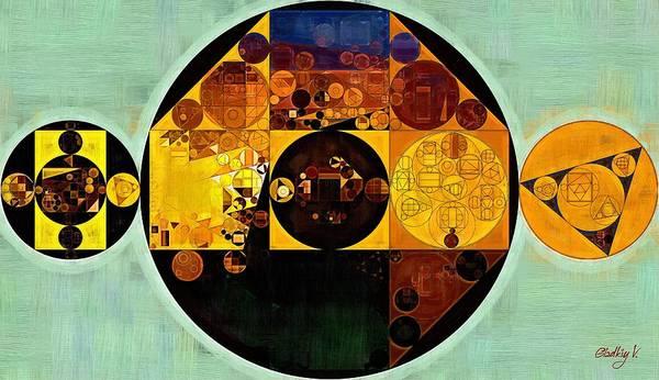 Zinnwaldite Brown Poster featuring the digital art Abstract Painting - Gamboge by Vitaliy Gladkiy