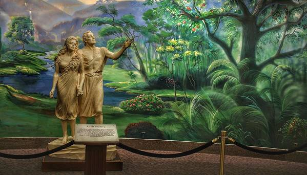 Mormon Poster featuring the photograph Adam And Eve Display by Buck Buchanan