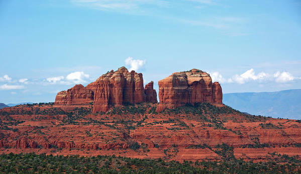 Cathedral Rock Sedona Arizona Landscape Red Rock Photography Canvas Northern Arizona Poster featuring the photograph Cathedral Rock by Kelly Wade