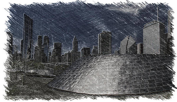 Bridge Poster featuring the photograph Chicago Millennium Park Bp Bridge Pa 02 by Thomas Woolworth