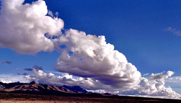 Landscape Poster featuring the photograph Clouds Marching by Randy Oberg