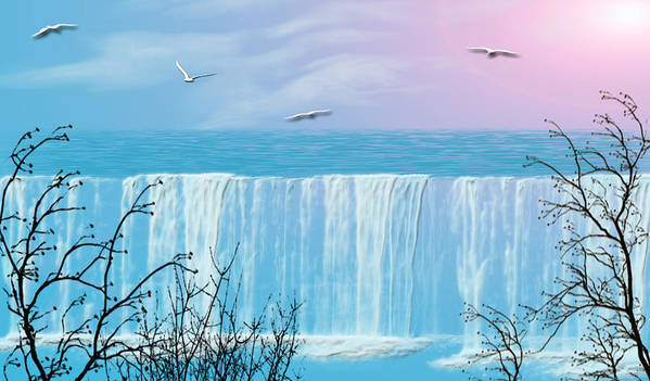 Waterfall Poster featuring the photograph Free Falling by Evelyn Patrick