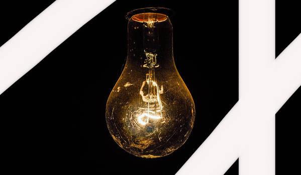 Glass Light Bulk Poster featuring the photograph Glass Light Art by Britten Adams