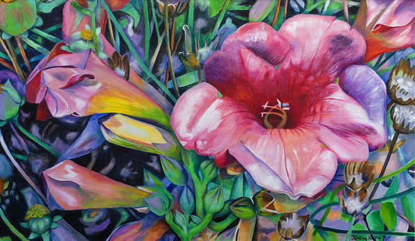 Flowers Poster featuring the painting In The Pink by Jeremy Holton