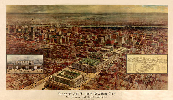 Pennsylvania Station Poster featuring the photograph Pennsylvania Station 1910 by Andrew Fare