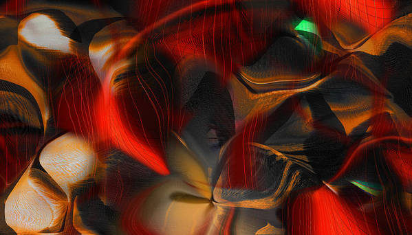 Abstract Poster featuring the digital art Pleasure Seeker by Yul Olaivar