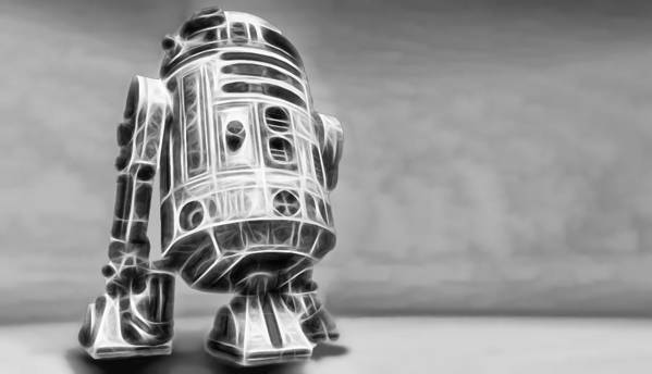 Starwars Poster featuring the digital art R2 Feeling Lonely by Scott Campbell