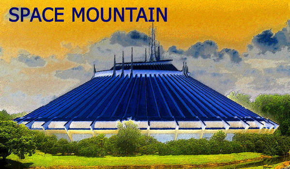 Art Poster featuring the painting Space Mountain by David Lee Thompson