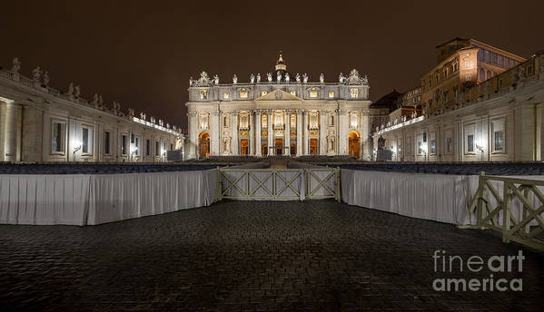 Basilica Poster featuring the photograph St. Peter Basilica by Valerio Poccobelli