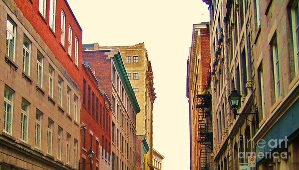 Photography Poster featuring the photograph Streets Of Montreal by Reb Frost