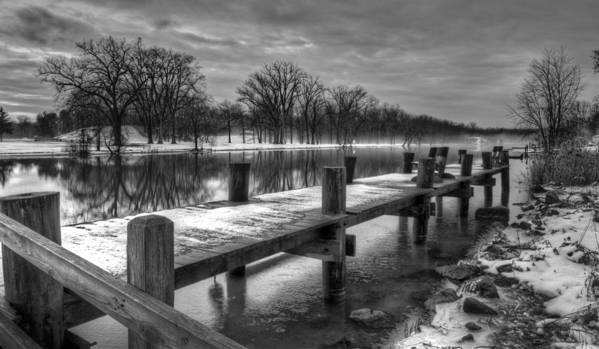 Landscape Poster featuring the photograph The Dock by Everet Regal
