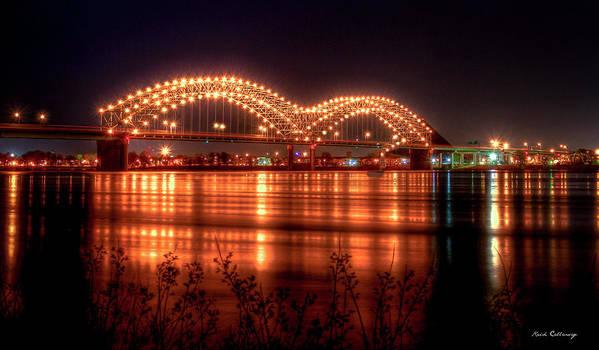 The M Bridge Memphis Tennessee Bridge Art Poster By Reid