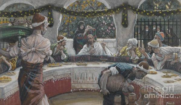 Tissot Poster featuring the painting The Meal In The House Of The Pharisee by Tissot