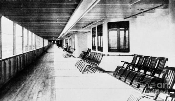 1912 Poster featuring the photograph Titanic: Promenade Deck by Granger