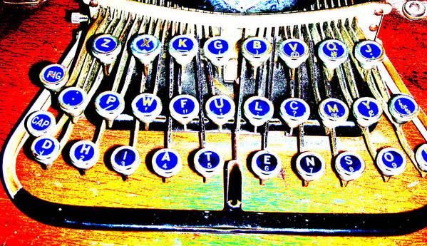 Typewriter Poster featuring the digital art Typewriter by Peter McIntosh