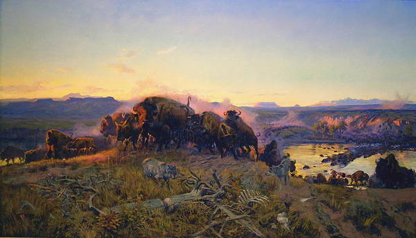 Charles Russell Poster featuring the digital art When The Land Belonged To God by Charles Russell