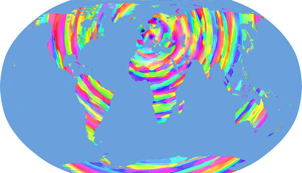 Map Of The World Poster featuring the digital art World Map Radial Eurocentric by C H Apperson