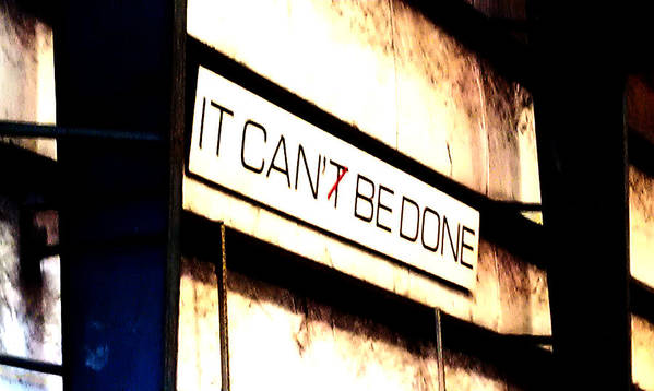 It Can Be Done Poster featuring the pyrography It Can Be Done by Mark Moore