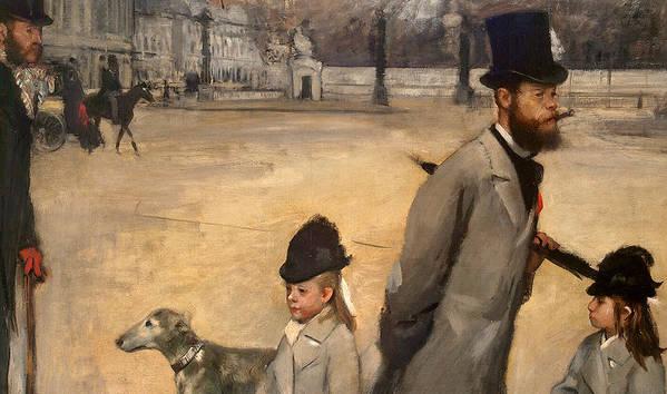 Place De La Concorde Poster featuring the painting Place De La Concorde by Edgar Degas