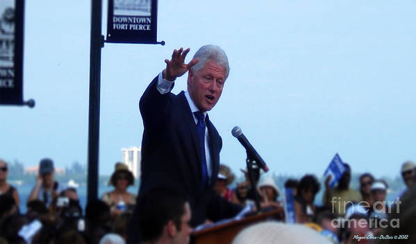 2008 Poster featuring the photograph President Clinton In Fort Pierce by Megan Dirsa-DuBois