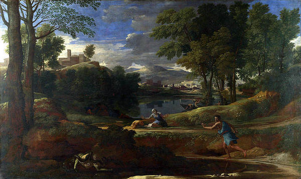700-1000 Poster featuring the painting Landscape by MotionAge Designs
